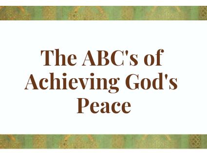 Achieving God's Peace