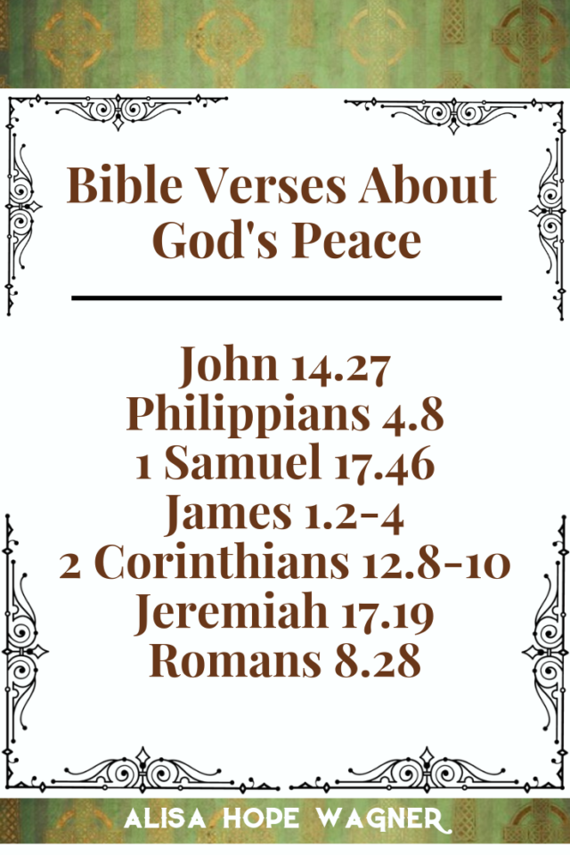 Bible Verses About God's Peace