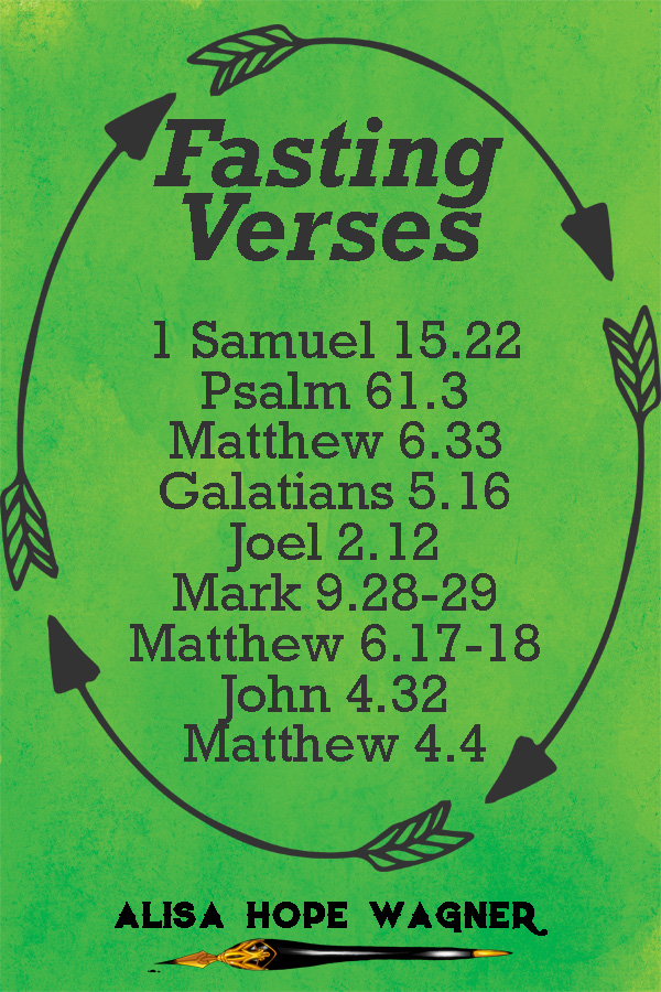 Bible verses for fasting